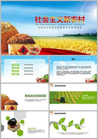 建设社会主义新农村PPT模板