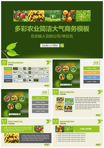 农业水果PPT模板