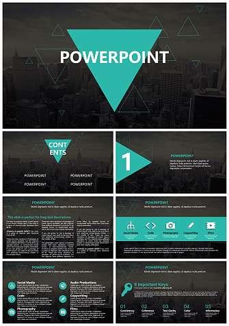 项目介绍通用PPT模板