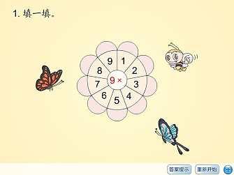 《习题课件五》表内乘法二Flash动画课件