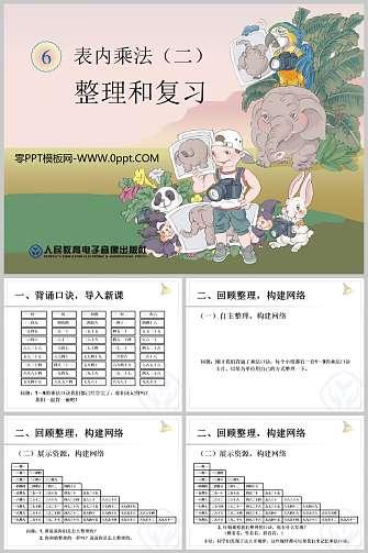 《整理和复习》表内乘法二PPT课件